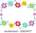 frame of spiral flowers vector | Shutterstock .eps vector #32824477