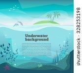 underwater background landscape ... | Shutterstock .eps vector #328253198