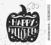 happy halloween. hand drawn... | Shutterstock . vector #328280252