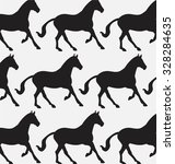 set of patterns with the horse | Shutterstock .eps vector #328284635