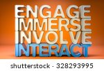 Interact Engage Text Background ...