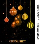happy christmas and  new year... | Shutterstock . vector #328297286