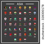 asian countries circle flags  ...   Shutterstock .eps vector #328300178