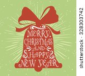 typographical vintage greeting... | Shutterstock . vector #328303742