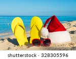 christmas vacation at sea.... | Shutterstock . vector #328305596