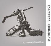 hockey goaltender. vector... | Shutterstock .eps vector #328317926