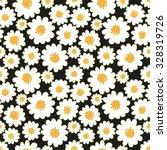 White Daisies Seamless Pattern...
