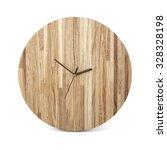 wooden round wall watch   clock ... | Shutterstock . vector #328328198