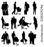 Collage Of People Silhouettes...