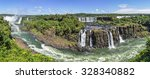 Panoramic View At Iguazu Falls...