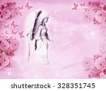 a beautiful angel with... | Shutterstock . vector #328351745