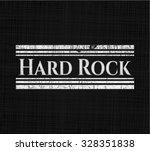 hard rock chalkboard emblem on... | Shutterstock .eps vector #328351838