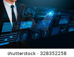 businessman touching technology ... | Shutterstock . vector #328352258