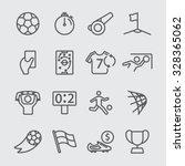 soccer line icon | Shutterstock .eps vector #328365062