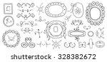 hand drawn frames design | Shutterstock .eps vector #328382672