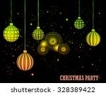happy christmas and  new year... | Shutterstock . vector #328389422