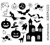 halloween set | Shutterstock .eps vector #328391222