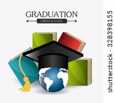 student graduation design over...   Shutterstock .eps vector #328398155