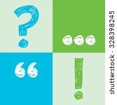 set of punctuation marks vector. | Shutterstock .eps vector #328398245