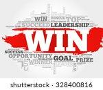 win word cloud  business concept | Shutterstock .eps vector #328400816