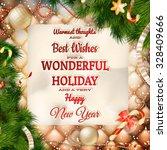christmas greeting card light... | Shutterstock .eps vector #328409666
