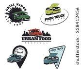 Set Of Food Truck Emblems ...