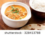 home made butter chicken and... | Shutterstock . vector #328413788