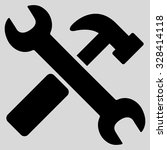 hammer and wrench vector icon.... | Shutterstock .eps vector #328414118