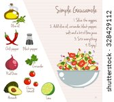 simple gaucamole recipe layout... | Shutterstock .eps vector #328429112