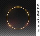 vector round frame. shining... | Shutterstock .eps vector #328429388