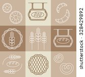 vector bakery logos  and icons... | Shutterstock .eps vector #328429892