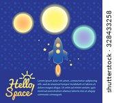 set of sun  moon  mars  planets ... | Shutterstock .eps vector #328433258