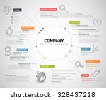 vector company infographic... | Shutterstock .eps vector #328437218