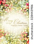 christmas background with... | Shutterstock . vector #328443986
