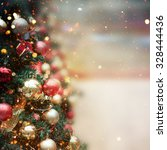 christmas tree background | Shutterstock . vector #328444436
