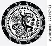 polynesian tattoo art  sacred... | Shutterstock .eps vector #328447436