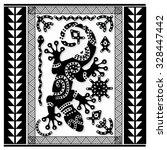 polynesian tattoo art  sacred... | Shutterstock .eps vector #328447442