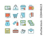 a set of various finance icons  ... | Shutterstock .eps vector #328448615