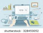 Vector Illustration Desktop...