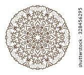 hand drawn henna tattoo mandala.... | Shutterstock .eps vector #328456295