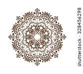 hand drawn henna tattoo mandala.... | Shutterstock .eps vector #328456298