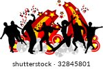 young men dance to music in...