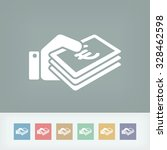 money icon   euro | Shutterstock .eps vector #328462598