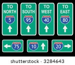 american interstate signs with... | Shutterstock .eps vector #3284643