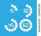digital timer  icon | Shutterstock .eps vector #328483286