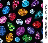 pattern of colored gemstones on ... | Shutterstock .eps vector #328490192