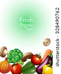 poster design with fresh... | Shutterstock .eps vector #328490762