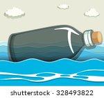 Empty Bottle Floating In The...