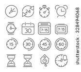 time and clock icons  flat...   Shutterstock .eps vector #328494068
