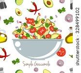 various vegetables icons set... | Shutterstock .eps vector #328499102